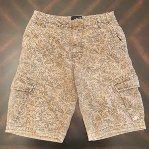 *VANS* Boy's Brown x Tan Paisley Bermuda Shorts